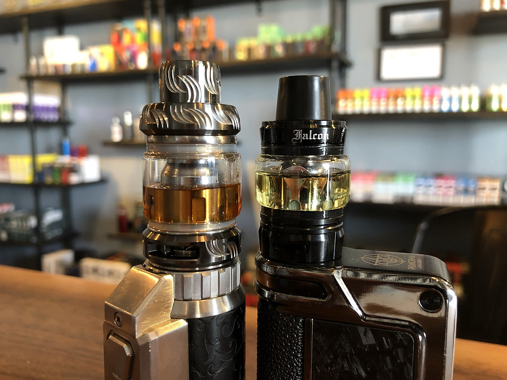 oxidized juice difference in two vape tanks