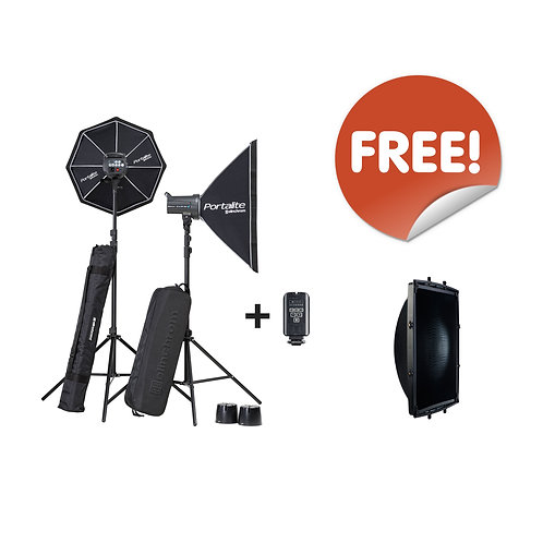 D-Lite RX 4/4 Sofbox To Go Set 20839.2 with free Square Reflector