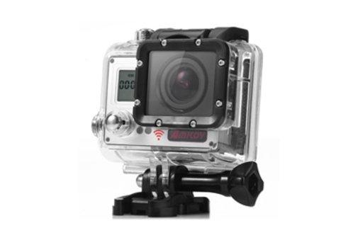 AMKOV Wifi Sports Action Camera 4K 20 MP (Silver)