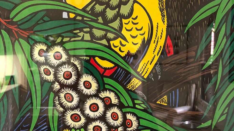 Regent Parrots and Eucalypt - LESLIE VAN DER SLUYS