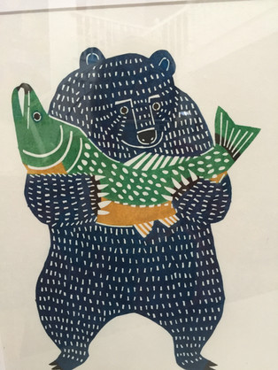 Kata Kata (Dancing Bear with Fish)