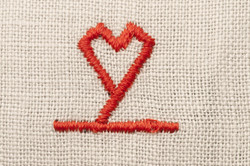 simbolo amore fazzoletto cuore