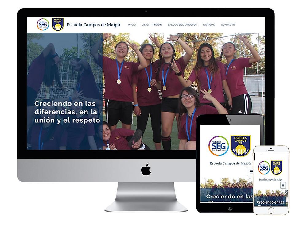 Vista de nuestro nuevo sitio WEB