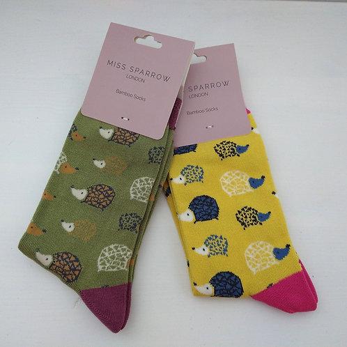 Miss Sparrow Hedgehog Socks