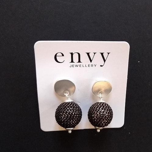 Envy Bronze ball stud earrings