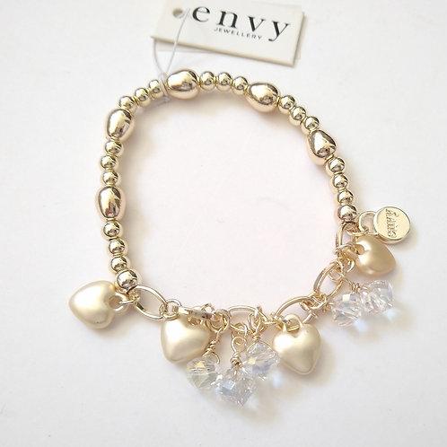 Envy Heart and glass Bracelet