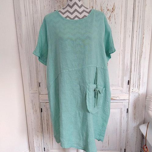 Pocket Detail Linen Dress