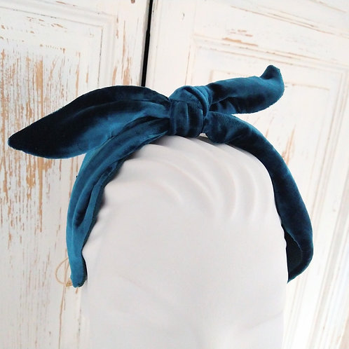 Handmade Velvet and Linen Headbands