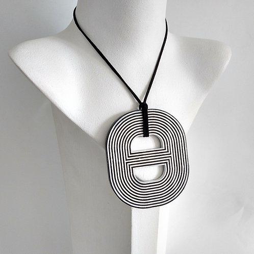 Black & White Acrylic Adjustable Necklace