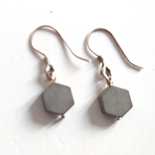 Etnika Hexagonal Drop Earrings