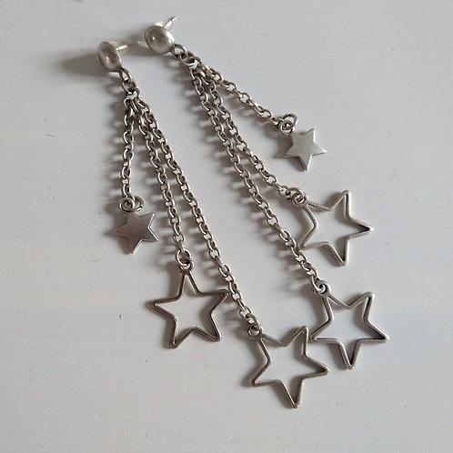 Hatti Long Mixed Stars Earrings