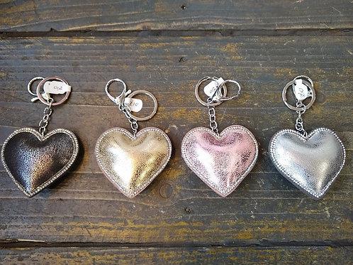 Padded Heart Key Charm