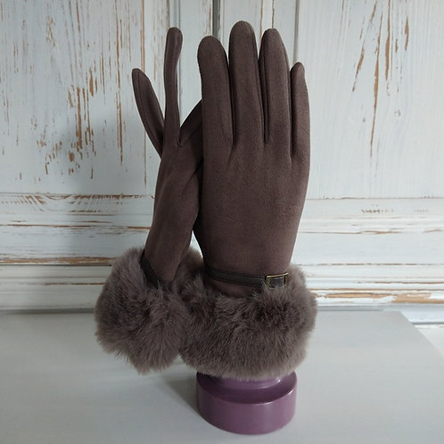 Envy Feux Suede Cuff Gloves
