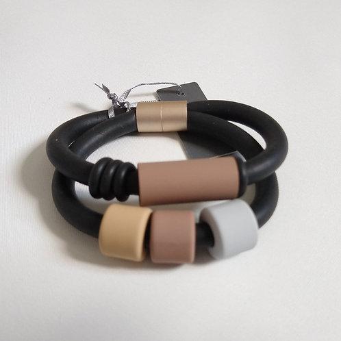 Double Wrap Rubber Bracelet