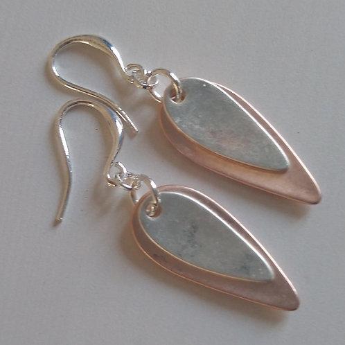 Elongated Double Oval Earrings
