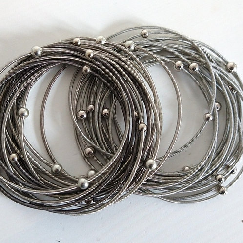 Etnika Stretch Coil with Metal Balls Bracelets