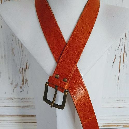 Classic Tan Leather Belt