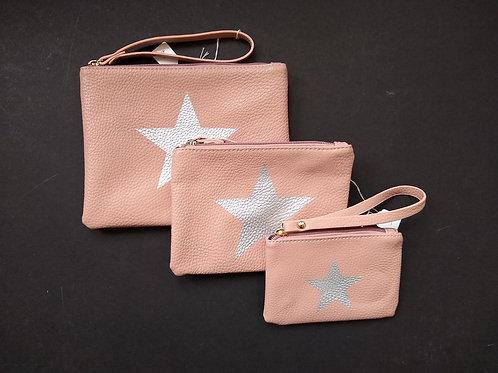 Pink Star PU bags