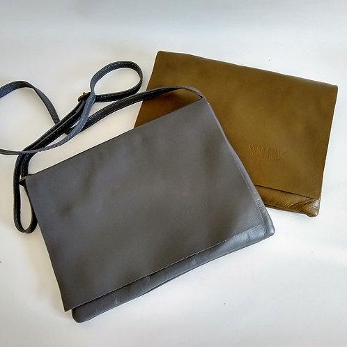 Leather Mid Size Messenger Bag