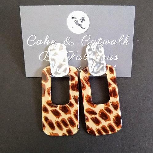 JCUK Oblong animal earrings