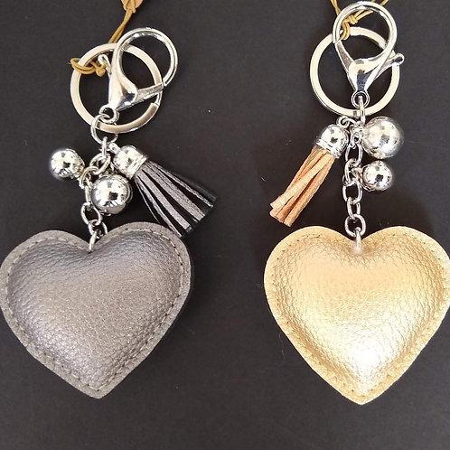 Matt PU Heart Handbag Charms