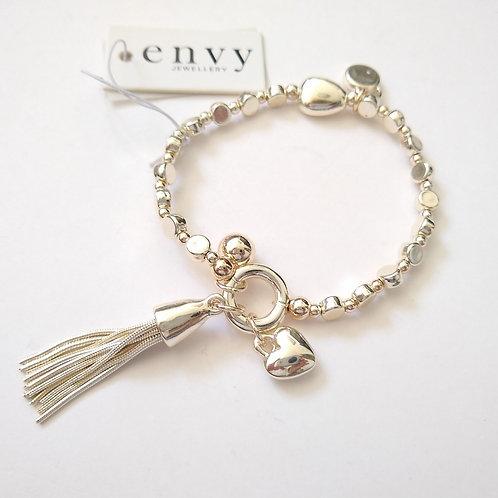 Envy Tassel and Charms Bracelet