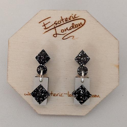 Esoteric Diamond Drop Earrings