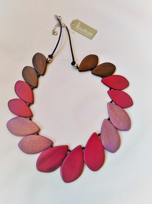 One Button Tulip Shapes Necklace.