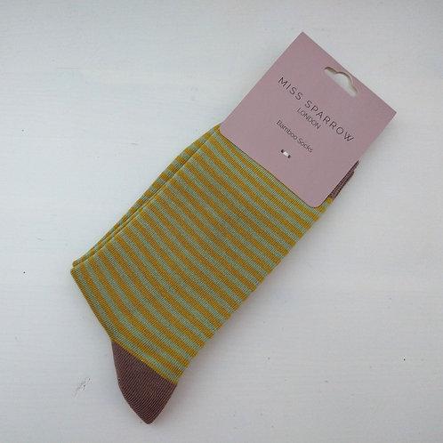 Miss Sparrow Mini Stripes Socks