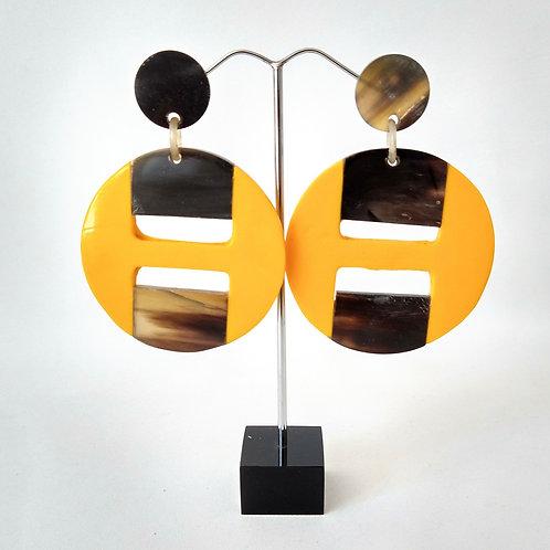 Acrylic Yellow Earrings