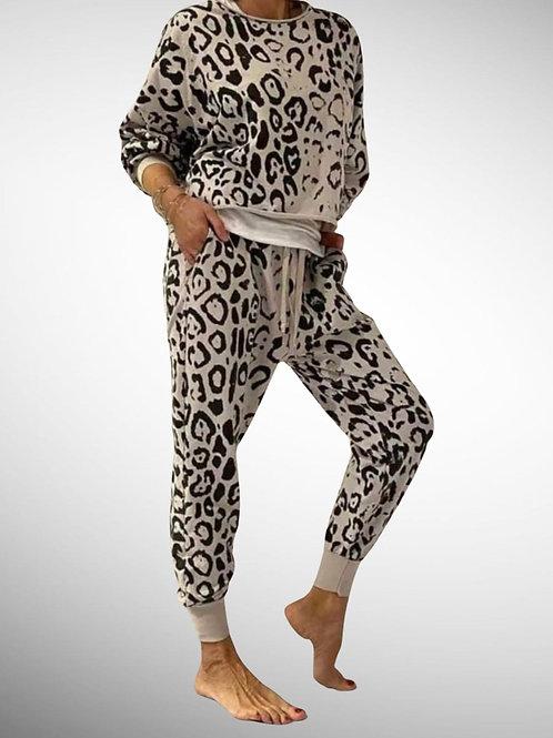 Leopard Print Leisure Suit