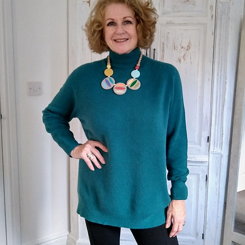 Mid Length Soft Knit Jumper by Alpini Italian Knitwear