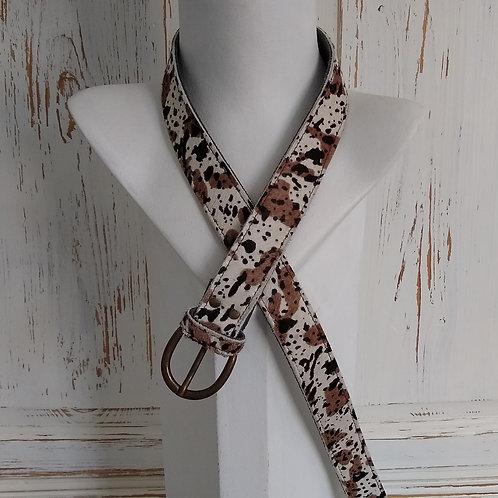 Cream & Browns Mottled Effect Fury Leather Belt