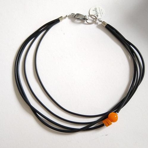 Opella Murano Glass and Rubber Necklace