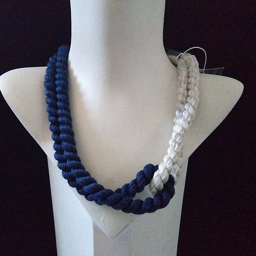 Lauren Taylor Navy Narrow Cord Necklace