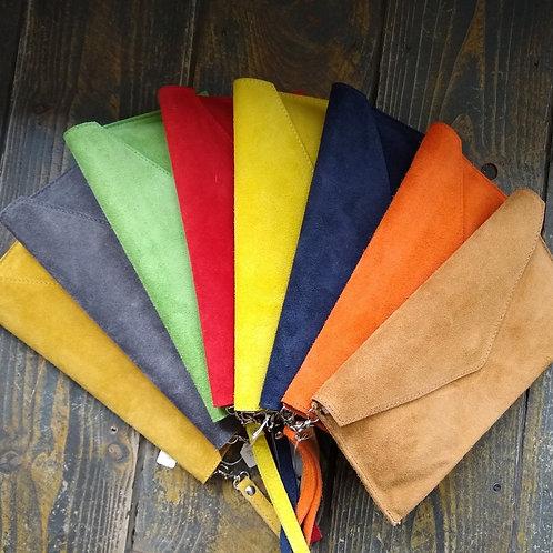 Suede Clutch bags.