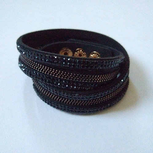 Wrist Wrap Black with Black and Bronze
