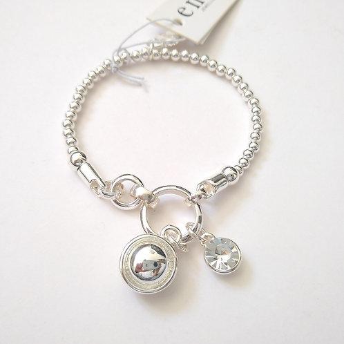 Envy crystal and ball charm bracelet