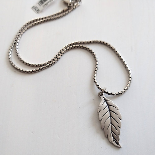 Danon Silver Leaf Short Necklace