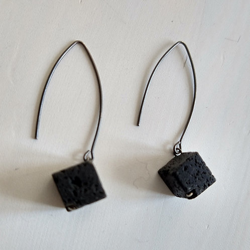 Industrial Jewellery Volcanic Rock Earrings