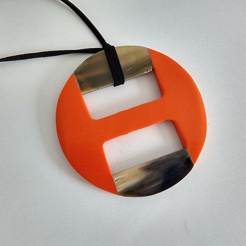 Open Buckle Shape Acrylic Necklace