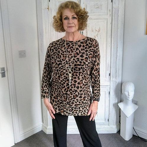Pomodoro Printed Leopard Lurex Tunic