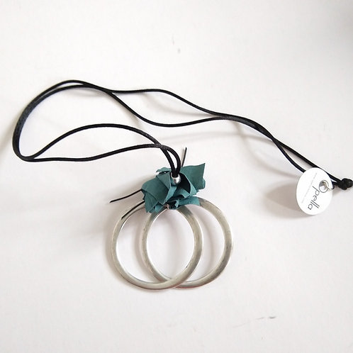 Opella Double Hoop and Paper Necklace
