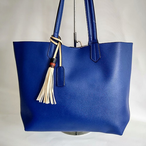 Large Royal Blue Shopper with Small Bag.