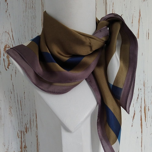Silky Green Mix Square Scarf