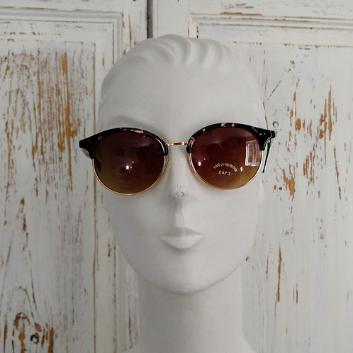 Powder Half Gold and pattern Sunglasses