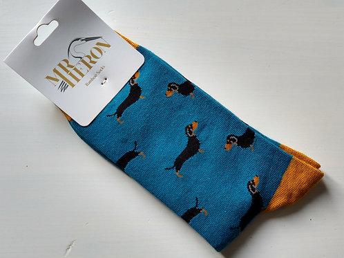 Mr Heron Dacshund Socks