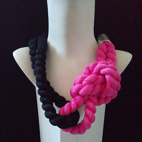 Lauren Taylor Big Cord Pink Necklace