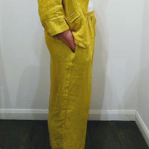 Pomodoro Cropped Linen Culottes