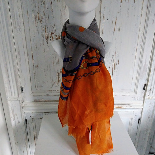 Chain Link Pattern Scarf